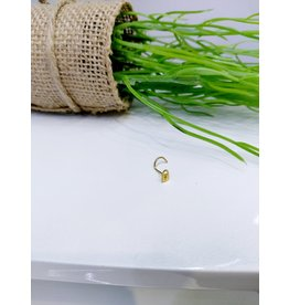NRB0003 - Gold Lock Screw Nose Ring