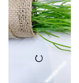 NRB0007 - Black Hoop Nose Ring