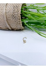 NRB0025 - Gold Peace Gold Nose Ring