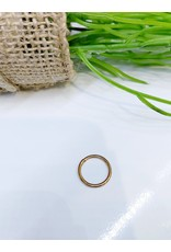 NRB0042 - Rose Gold Plain Hoop Nose Ring