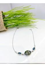 BCF0060 -  Silver Grey, Crystal Bracelet