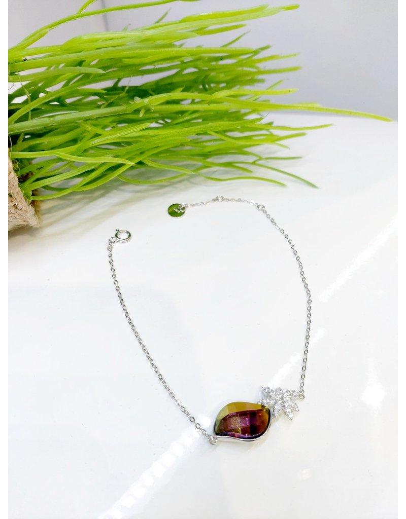 BCF0062 -  Silver Purple Bracelet