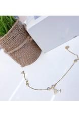 BCF0065 -  Gold Martini Glass, Crystal Bracelet