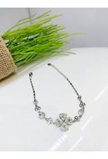 BCF0070 -  Silver Flower Bracelet
