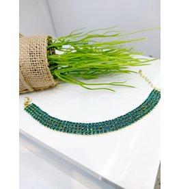 BCF0087 -  Gold Turquoise Bracelet
