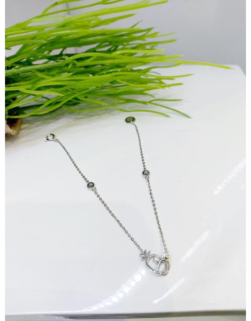 BCF0088 -  Silver Pineapple, Sterling Silver Bracelet