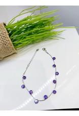 BCF0094 -  Silver Purple Bracelet