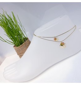 BCF0099 -  Gold Flower Anklet