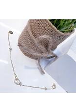 BCF0105 -  Gold Pineapple, Sterling Silver Bracelet