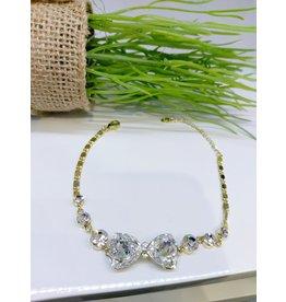 BCF0112 -  Gold Bow Bracelet