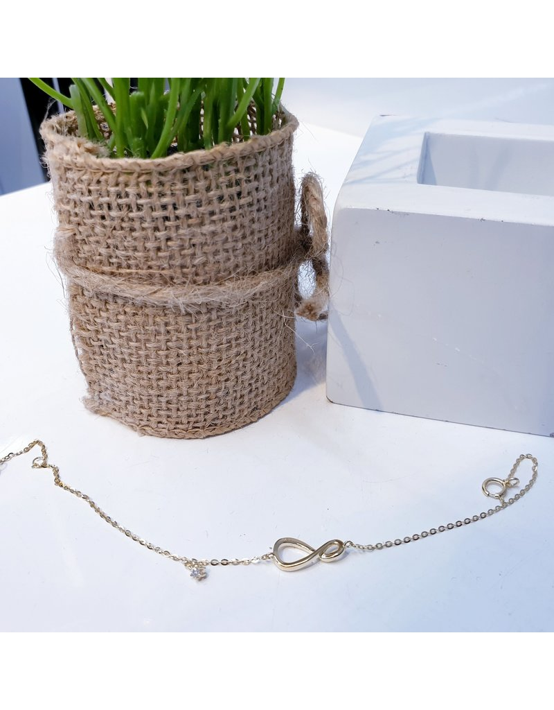 BCF0120 -  Gold Infinity Bracelet
