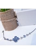 BCF0121 -  Silver Grey, Crystal Bracelet