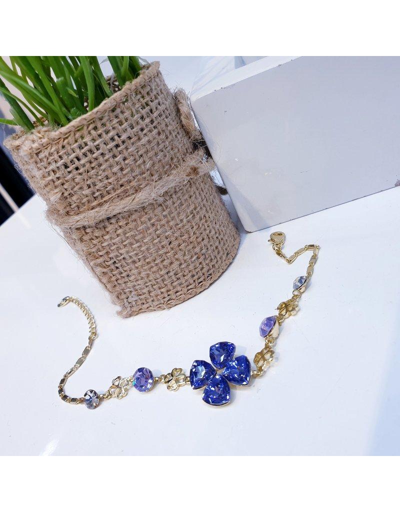 BCF0122 -  Gold Purple Bracelet