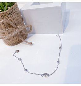 ANG0002 -  Silver Pineapple, Sterling Silver Anklet