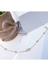 ANG0003 -  Gold, Pineapple Sterling Silver
