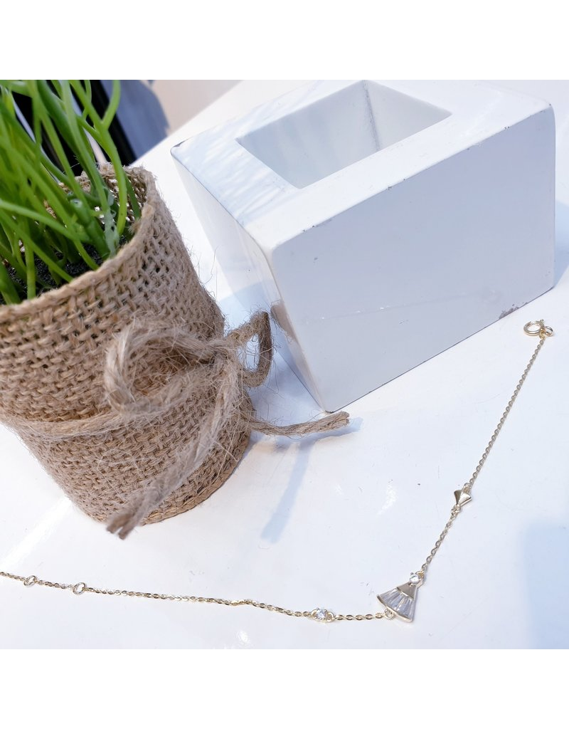 ANG0007 -  Gold Sterling Silver Anklet