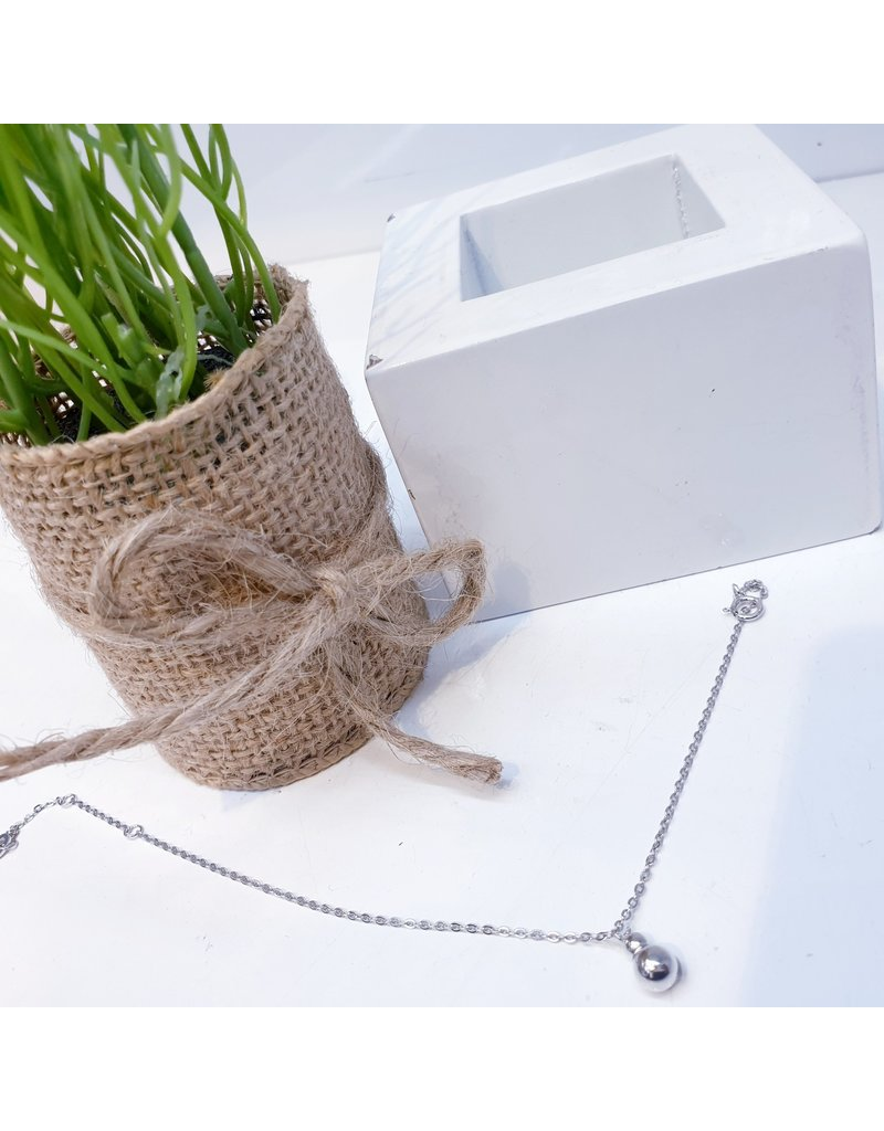 ANG0014 -  Silver Sterling Silver Anklet