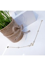 ANG0020 -  Gold Apple, Sterling Silver Anklet