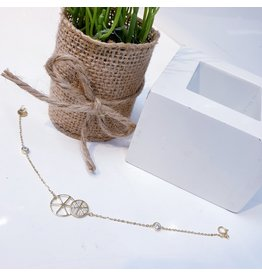 ANG0032 -  Gold Sterling Silver Anklet