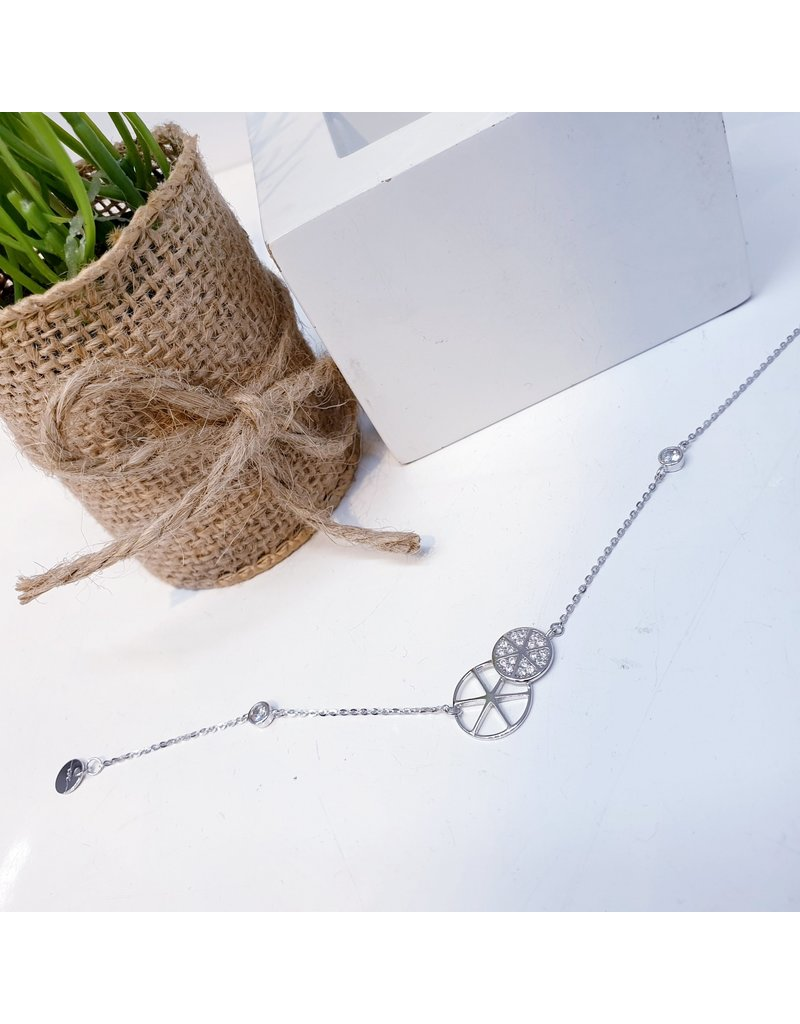 ANG0033 -  Silver Sterling Silver Anklet
