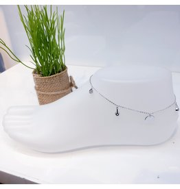 ANF0010 - Silver, Crystal Anklet