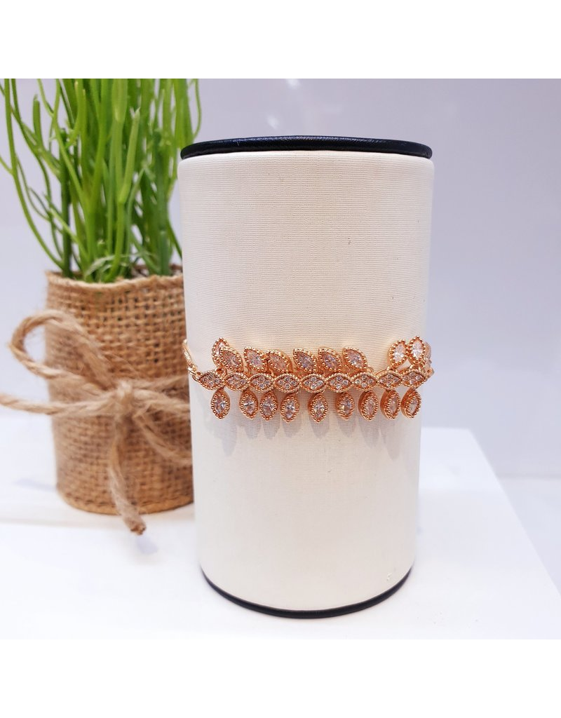 BJD0108-Rose Gold Adjustable Bracelet