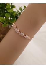 BJD0121-Rose Gold,Flower Adjustable Bracelet