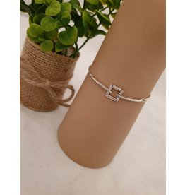 BJD0132-Silver Adjustable Bracelet