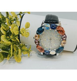 WTA0001 - Black Mother Of Pearl, Coral, Purple, Navy Blue, Mustard, Grape Watch