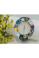 WTA0004 - Black Pink, Teal, Yellow, Mother Of Pearl, Greem, Cerise Watch