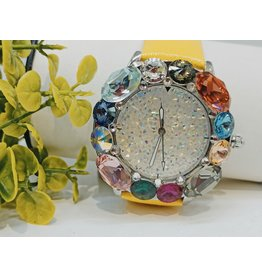 WTA0010 - Yellow Pink, Coral, Mother Of Pearl, Purple Watch