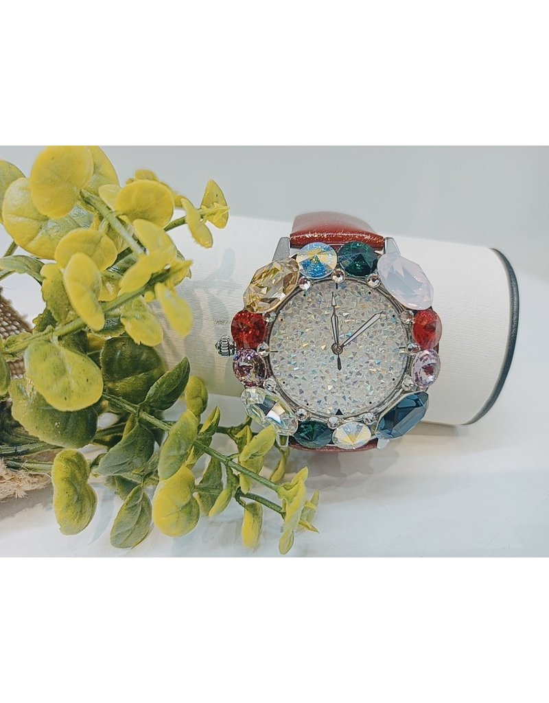 WTA0017 - Red Mother Of Pearl, Emerald Green, Purple Watch