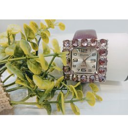 50210029 - Burgandy and Silver Watch