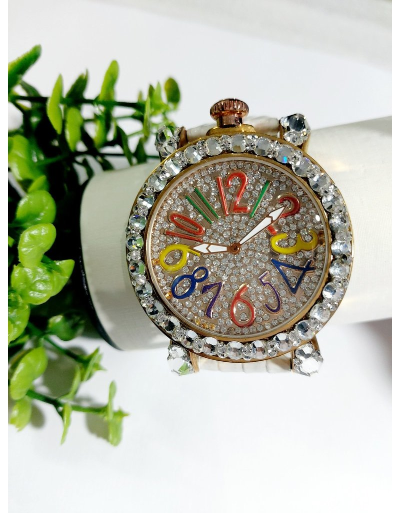 50250312 - Multicolor Watch With White band