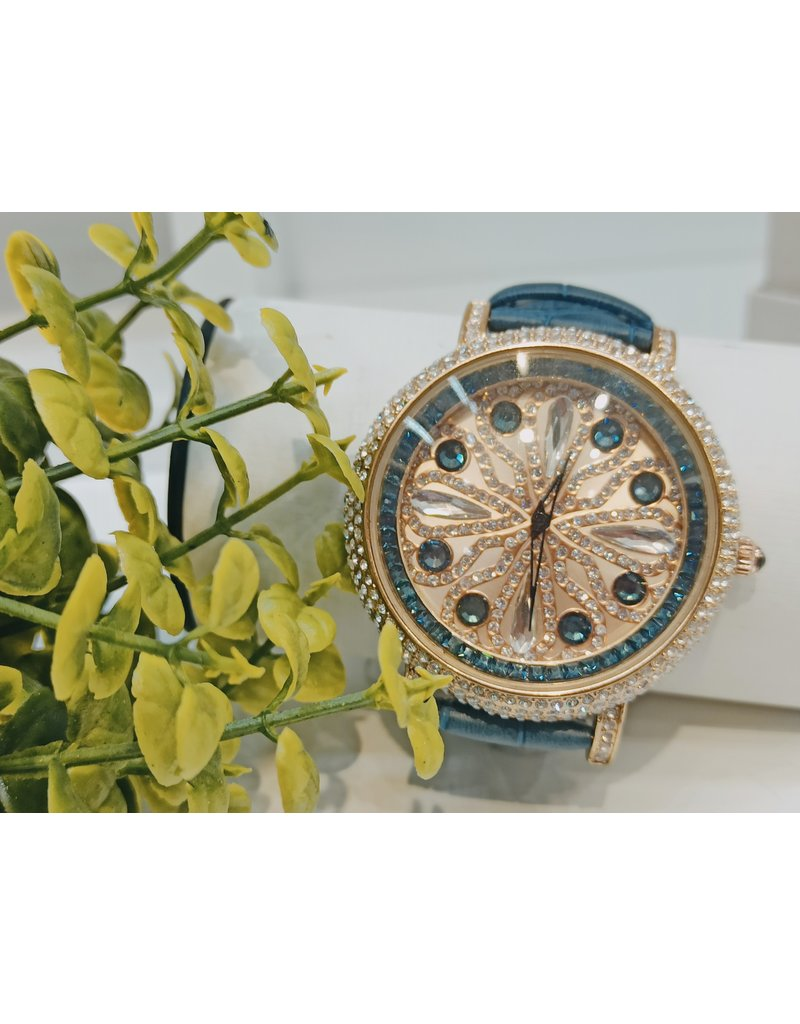 50250432 - Gold And Blue Watch