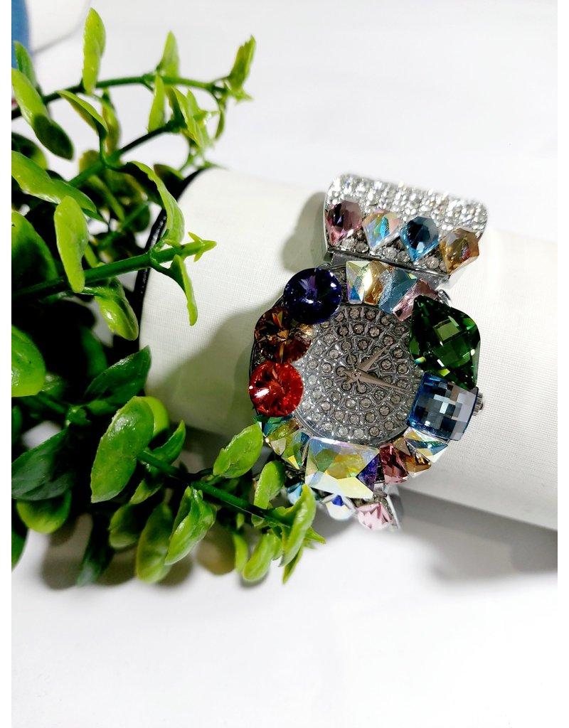50250444 - Multicolour Stone Silver Watch