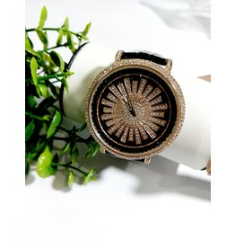 50256020 - Black and Gold Watch with Rotating Centre