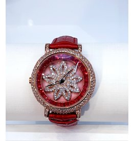 50256029 - Red and Gold Watch with Rotating Centre