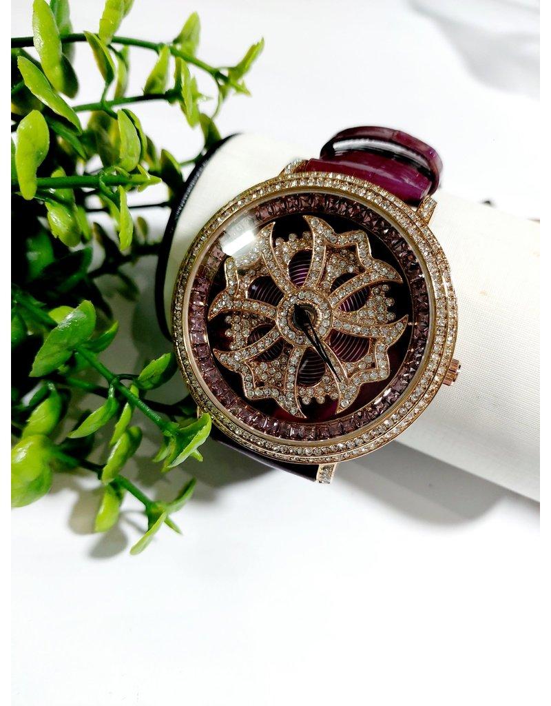 50256044 -Burgandy Rotating Watch