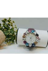 50256050 - Multicolour with purple band watch