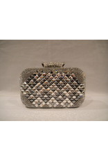 4020030 - Silver Black Clutch Bag