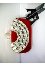 20240028 - Red Silver Clutch Bag