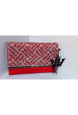 20240039 - Red Silver Clutch Bag