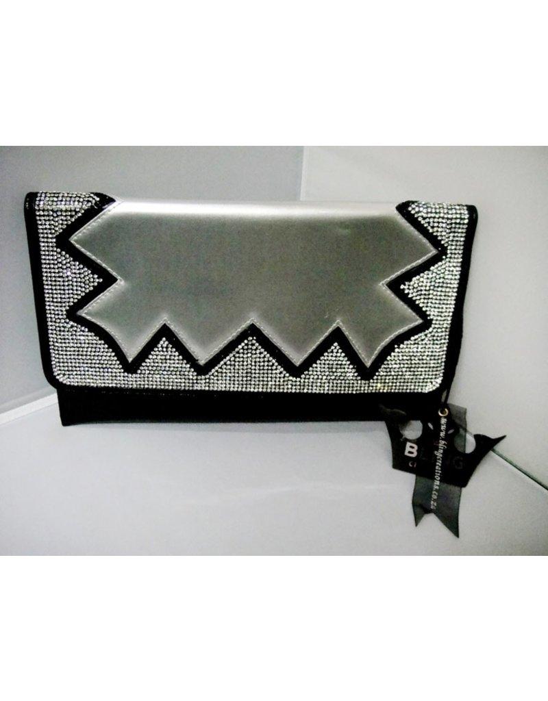 20240053 - Black Silver Clutch Bag