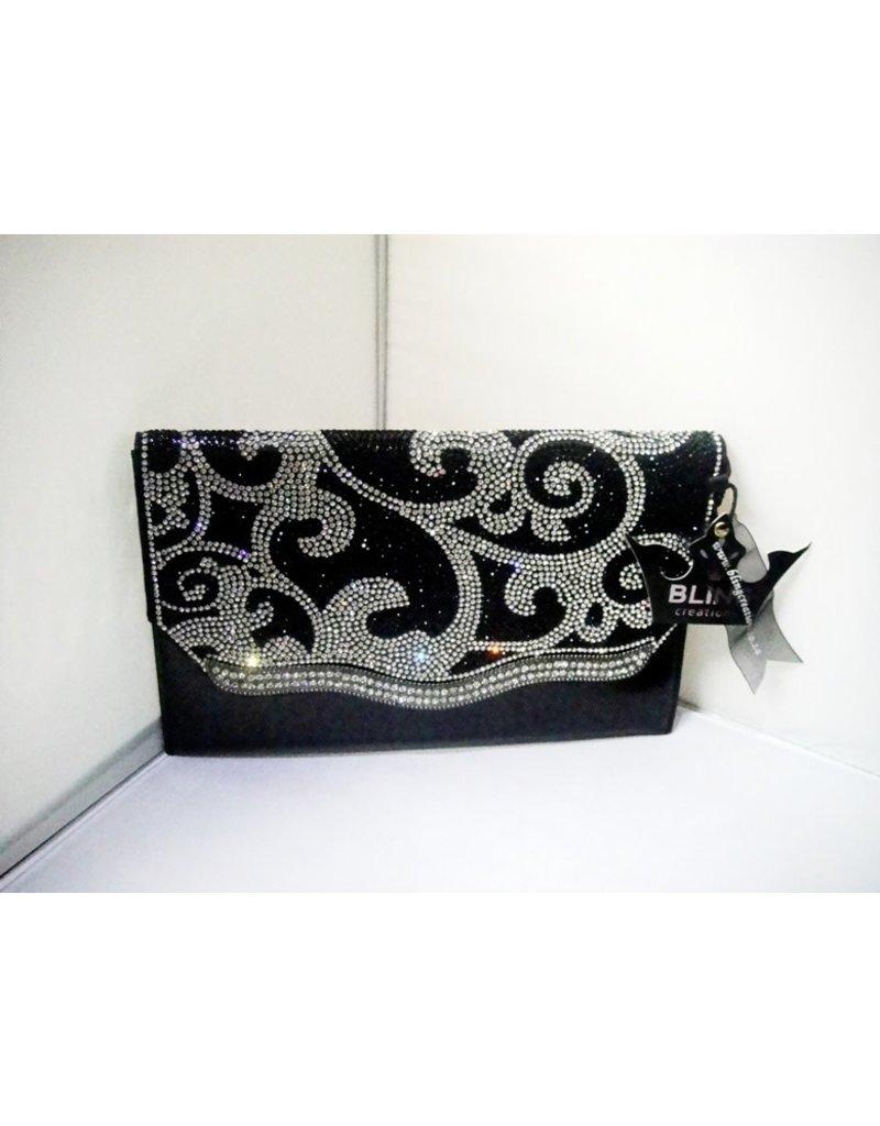 20240054 - Black Silver Clutch Bag