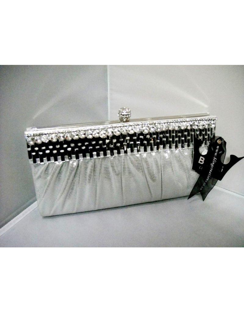 20240077 - Silver  Clutch Bag