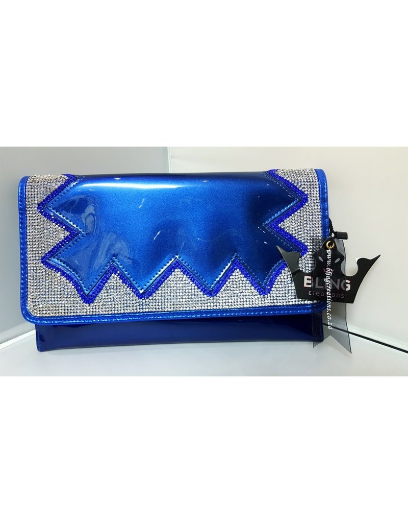 20240079 - Royal Blue Silver Clutch Bag