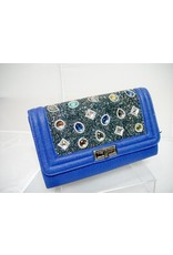 20240086 - Blue Multicolour Clutch Bag