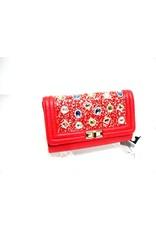 20240087 - Red Multicolour Clutch Bag