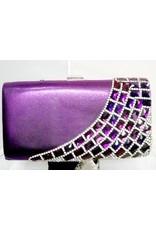 40230028 - Purple Silver Clutch Bag